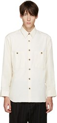 Umit Benan Off White Two Pocket Shirt
