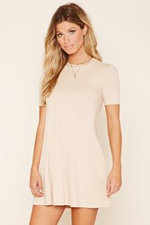 Forever 21 Ribbed Mini Dress Nude