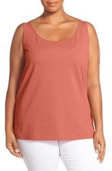 Nic Zoe Plus Size Women's 'Perfect' Scoop Neck Tank Coral Sun
