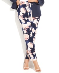 Inc International Concepts Plus Size Tapered Floral Pants Floated Petals