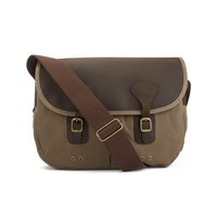 Barbour Men's Wax Leather Tarras Bag Natural