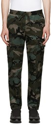 Valentino Green Camo Trousers