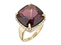 Cole Haan Large Cushion Cut Bezel Ring Gold Amethyst Ring Red