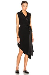 Baja East Collared Dress In Black