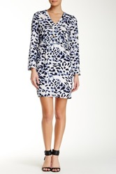 Eight Sixty Long Sleeve Printed Dress Multi