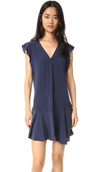 Joie Almarie Silk Dress Dark Navy