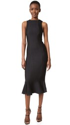 Kendall Kylie Peplum Hem Dress Black
