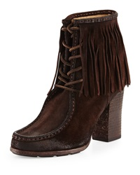 Parker Fringe Lace Up Ankle Boot Frye