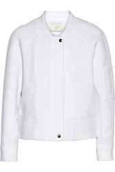 Iro Dayah Leather Trimmed Cotton Blend Jacket White