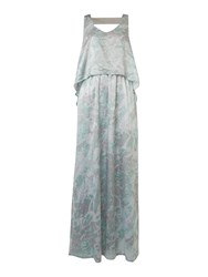 Label Lab Printed And Beaded Double Layer Maxi Dress Multi Coloured