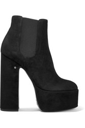 Laurence Dacade Suede Platform Ankle Boots Black