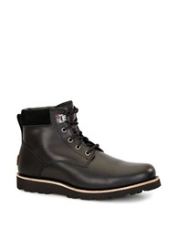 Ugg Seton Shearling Lined Leather Utility Boots Black