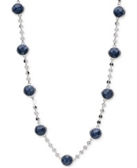 Lonna And Lilly Silver Tone Blue Stone Collar Necklace