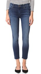 Mother Double Fray Charmer Crop Jeans Photo Finish