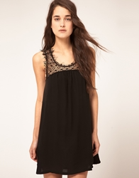 Kore By Sophia Kokosalaki Silk Ggt Swing Dress Black