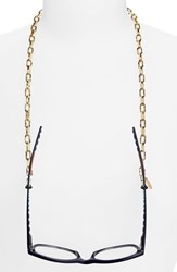 Women's L. Erickson 'Magdelan' Mini Metal Link Eyewear Chain Onyx Gold