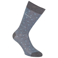 Boss Logo Boss George Dots Socks Blue Grey