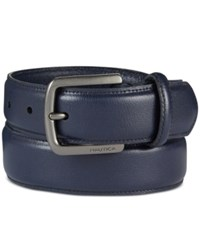 Nautica Men's Saffiano Finish Belt Navy