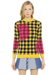 House Of Holland Gingham Wool Jacquard Sweater