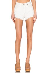 Paige Margot Short Blanc Destructed