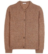 Miu Miu Wool Cardigan Brown