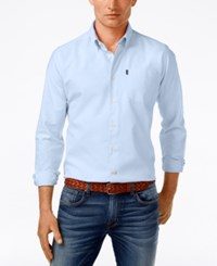 Barbour Men's Stanley Solid Oxford Long Sleeve Shirt Blue