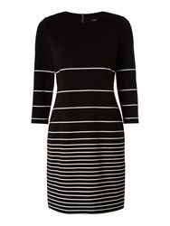 Episode 3 4 Sleeve Striped Fit And Flare Dress Black