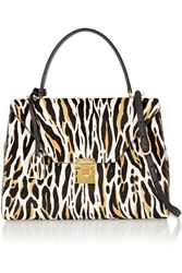 Mark Cross Hadley Medium Animal Print Calf Hair Tote