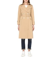 Moandco. Belted Garbardine Trench Coat Pale Olive Green