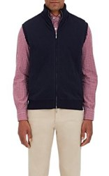 Barneys New York Men's Quilted Cashmere Knit Vest Navy