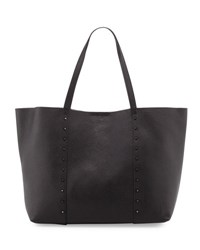 Furla Elle Rock Medium Studded Leather Tote Bag Black