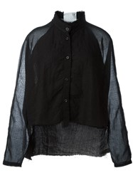 Lost And Found Frayed Edge Shirt Black