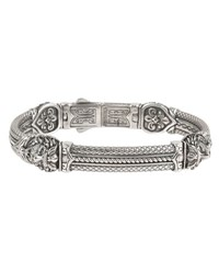 Konstantino Men's Aeolus Sterling Silver Tiger Head Bracelet