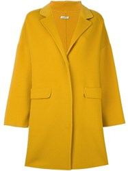 P.A.R.O.S.H. Single Breasted Coat Yellow Orange