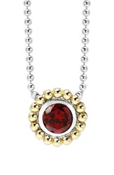 Women's Lagos Stone Pendant Necklace Garnet