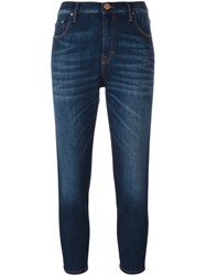 Don't Cry High Waisted Skinny Jeans Blue
