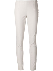 Kaufmanfranco Skinny Leather Trousers White