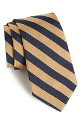 Gitman Brothers Vintage Men's Gitman Stripe Silk Tie Khaki