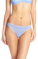 Ongossamer Women's On Gossamer Mesh Hip G Thong Spectrum Blue