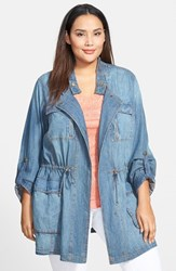 Plus Size Women's Steve Madden Denim Chambray Jacket