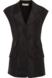 Marni Silk Faille Vest Black