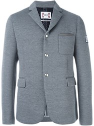 Moncler Gamme Bleu Three Button Blazer Grey