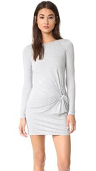 Bobi Knot Dress Grey