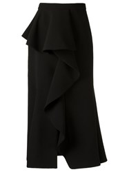 Giuliana Romanno Ruffled Midi Skirt Black