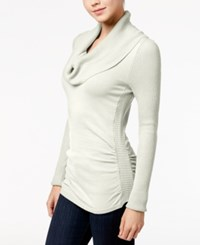It's Our Time Juniors' Cowl Neck Sweater Spiritual Vanilla
