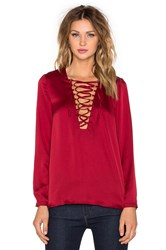 Wyldr It's A Wrap Blouse Red