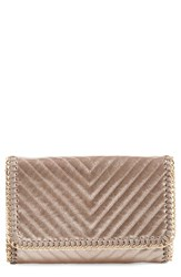 Chelsea 28 Chelsea28 Quilted Mini Clutch Metallic Rose Gold