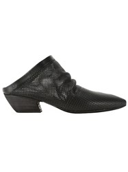 Marsa Ll Perforated Mules Black