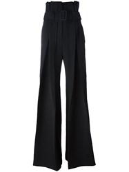 Yang Li High Waisted Palazzo Pants Black
