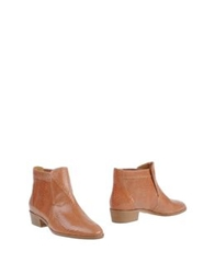 Les Prairies De Paris Ankle Boots Brown
